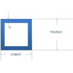 Tube carré acier noir 150 x 150