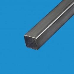 Tube carré acier noir 80 x 80 mm