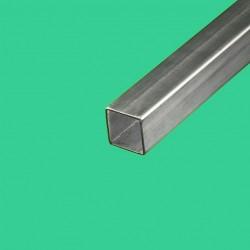 Tube inox brossé carré 25 x 25 mm