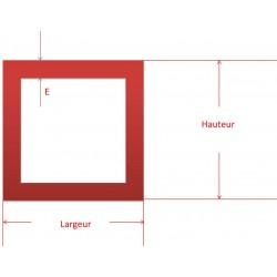 Tube carré alu 20 x 20