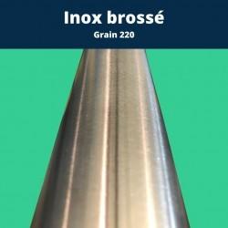 Tube inox brossé diametre 25mm