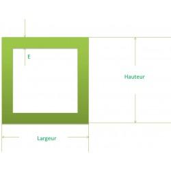 tube inox profilé carré