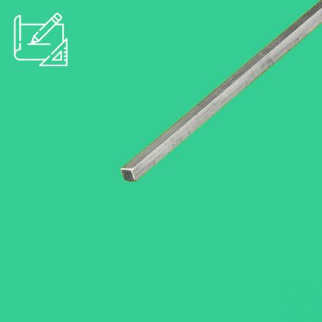 Barre carrée inox sur mesure
