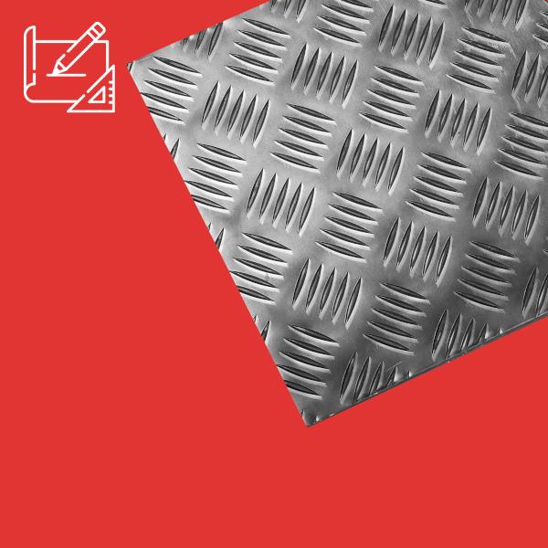 tole aluminium damier sur mesure