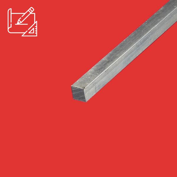 Barre carrée en aluminium 12x12 mm