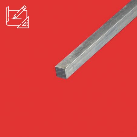 Fer carré alu 12x12 mm sur mesure