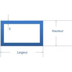 Tube rectangulaire acier 80x60
